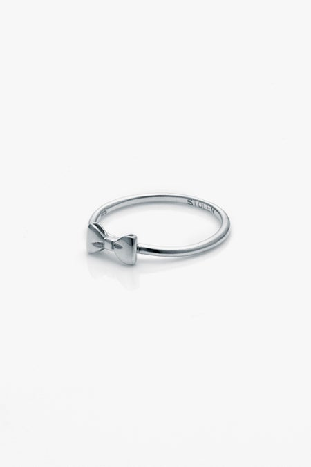 Baby Bow Ring - Silver