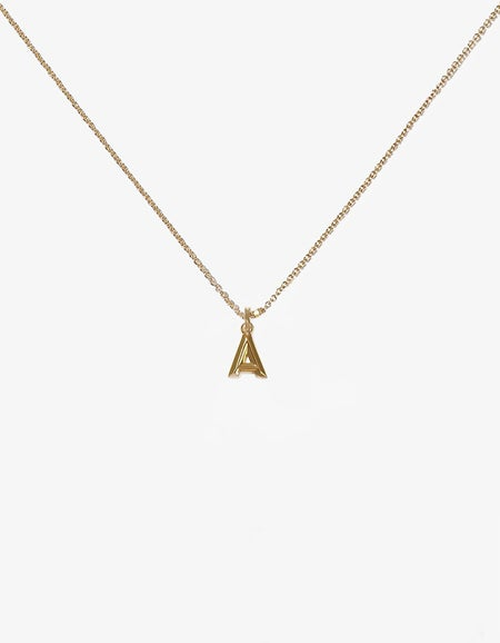 Alpha Letter Necklace - Gold Plated