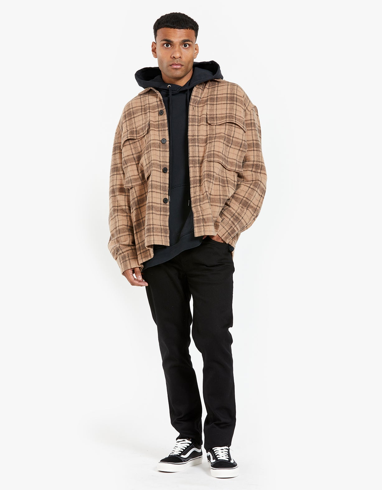 Colton Check Shirt - Sand
