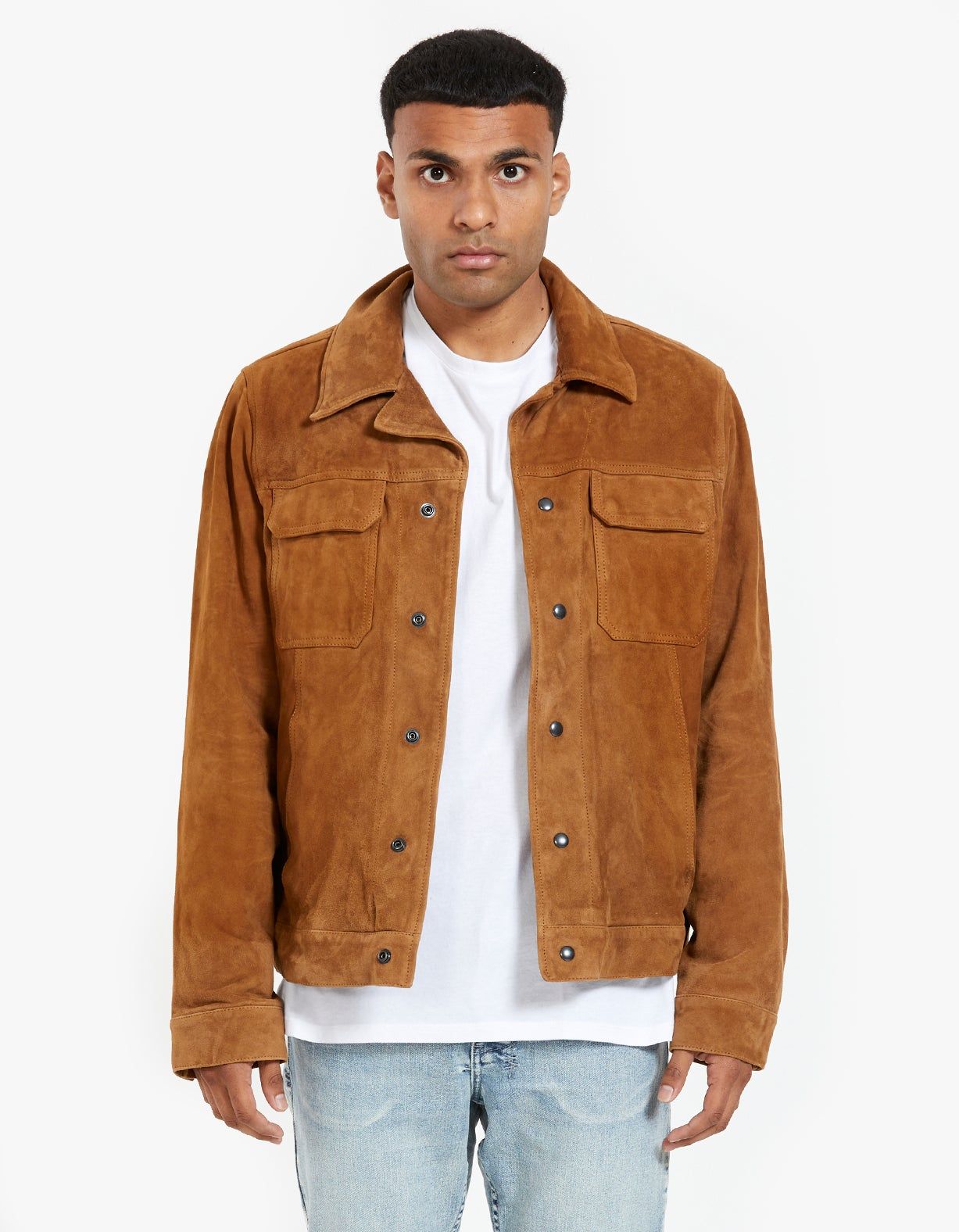Adaire Suede Jacket - Tan