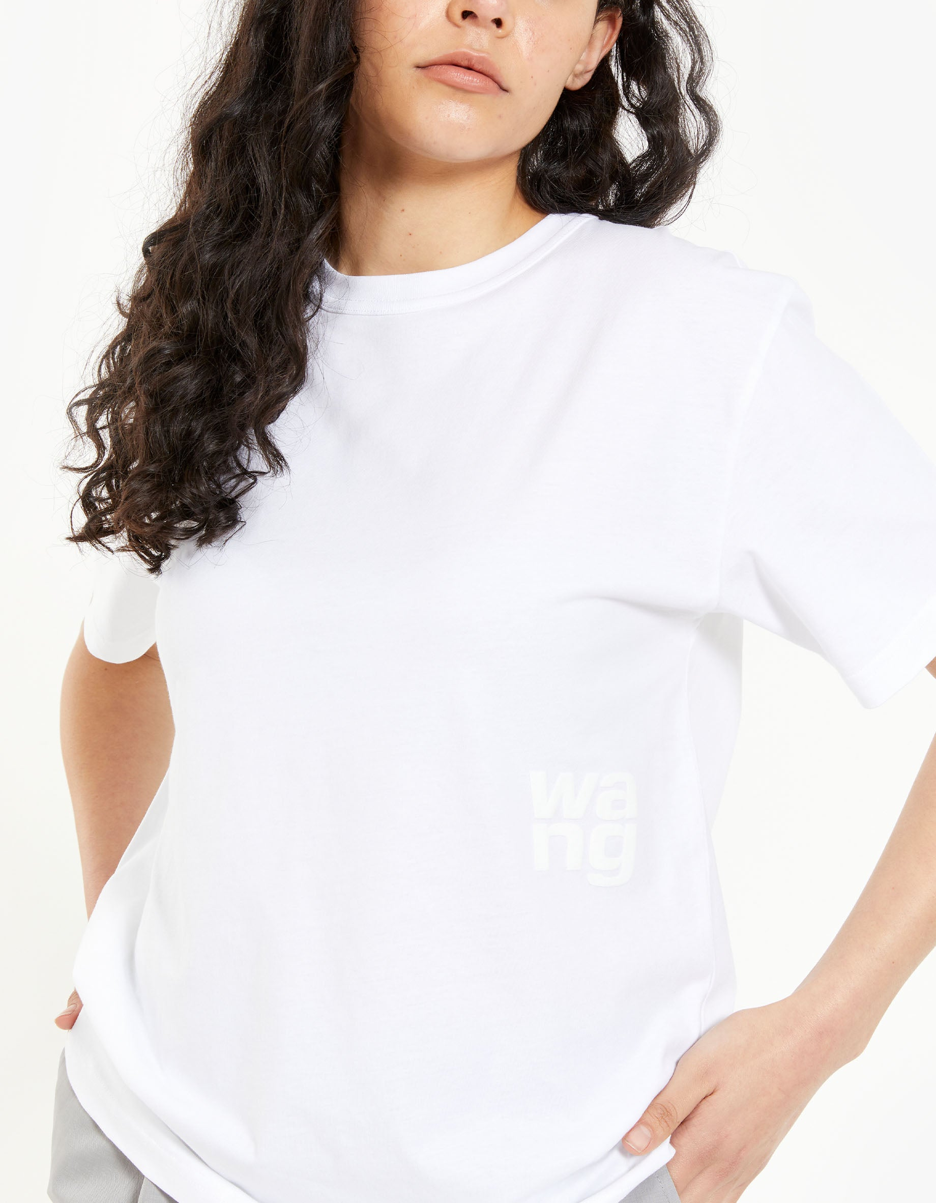 Foundation Jersey SS Tee With Puff Paint Logo - White