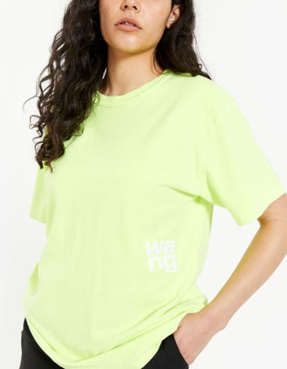 Structured Jersey SS Tee With Puff Paint Logo