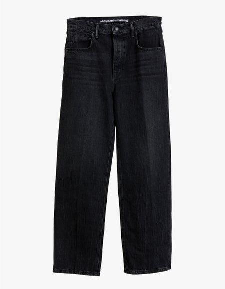 Skater Mid-Rise Jean - Grey Aged