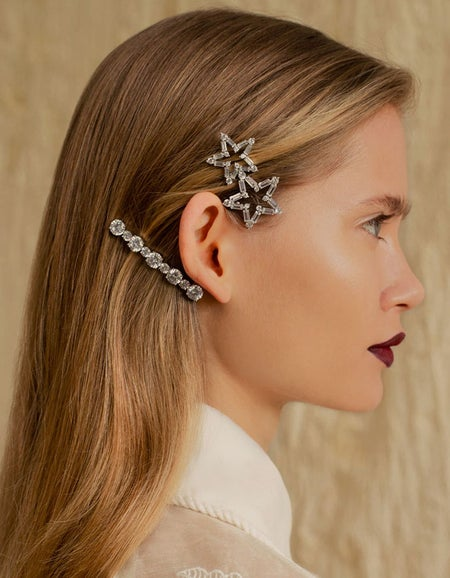 Lucille Hair Clip - Cubic Zirconia Crystals