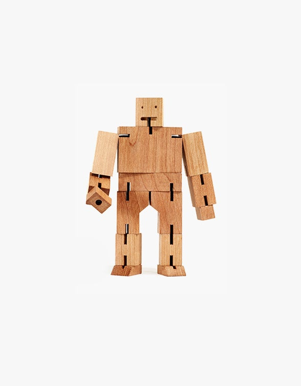 Cubebot Robot Toy Medium - Natural