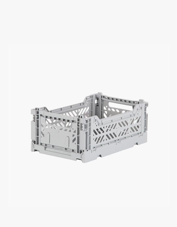 Small Folding Crate - Grey