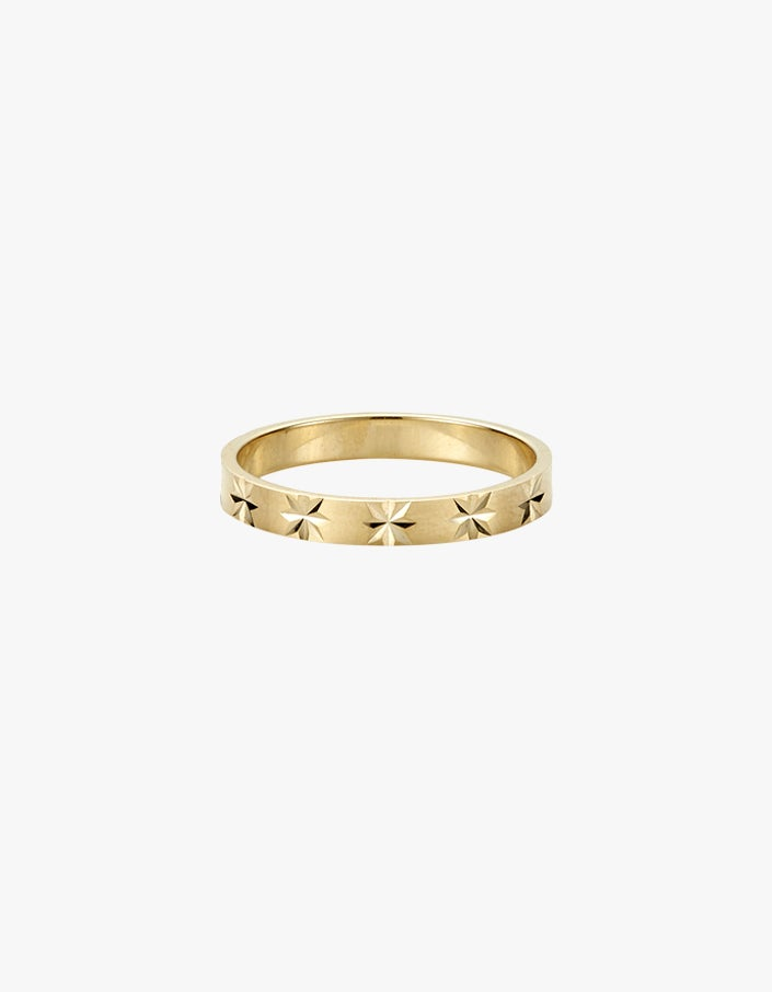 Star Crossed Ring - 9K Yellow Gold