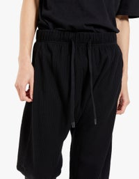 Mens Waffle Slouch Jersey Pant - Black