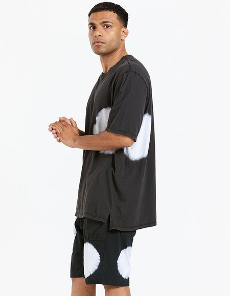 Mens Radial Slouch Fit Tshirt - Deep Ink