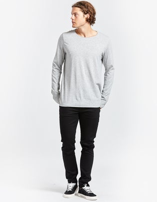 Mens Original Neck L/S T Shirt With Tail