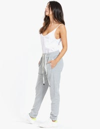 French Terry Track Pant - Grey Marl