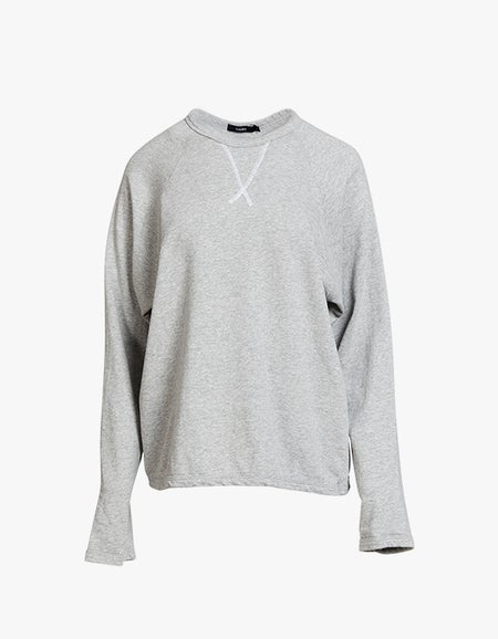 French Terry Relaxed L/S T-Shirt - Grey Marl