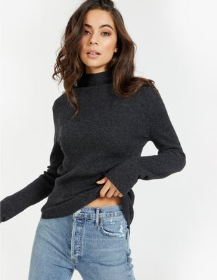 Womens Roll Neck Layering Knit