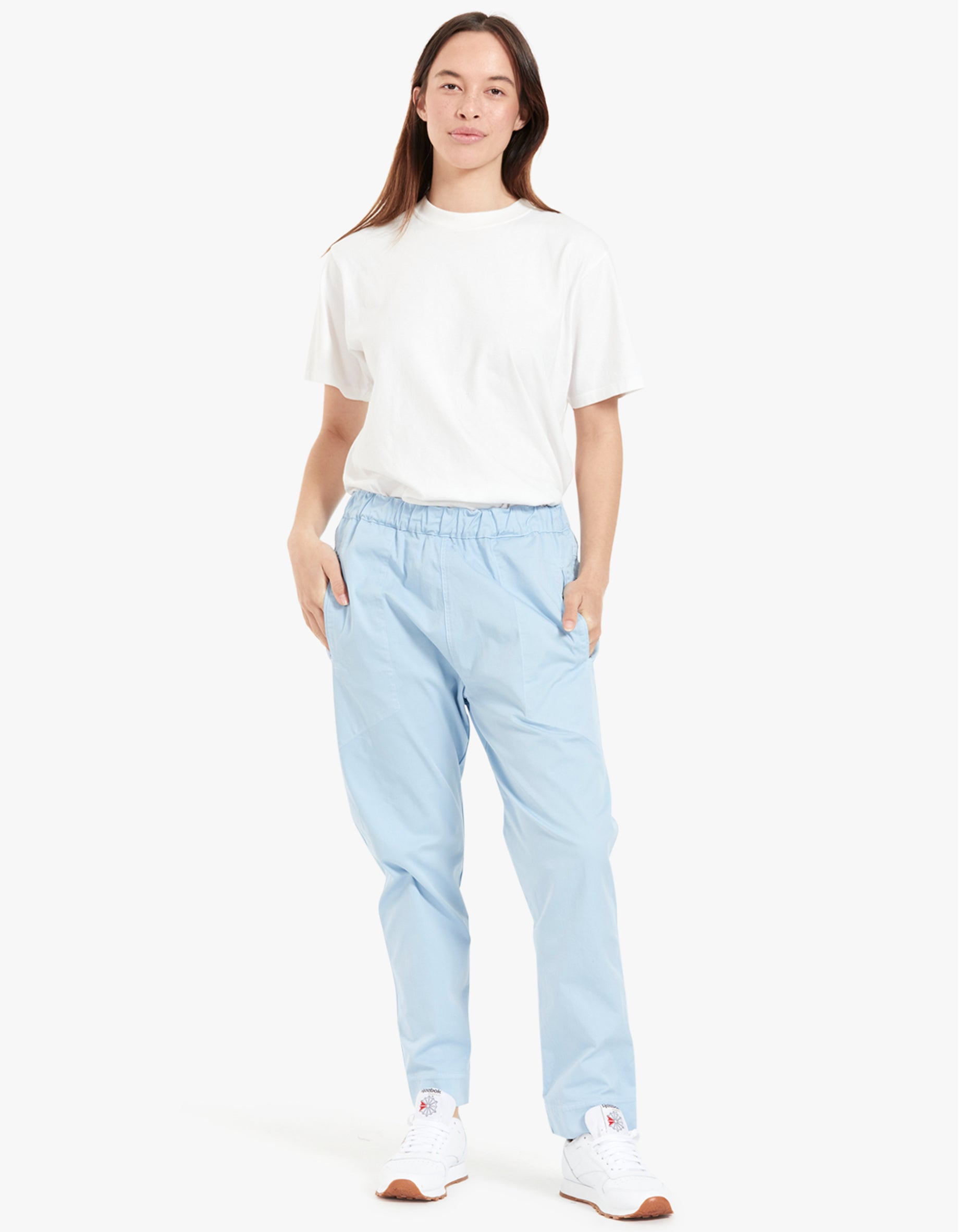Womens Slouchy Pull On Pant II - Pale Blue