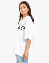 Womens Branded Wide Heritage S/S T-Shirt - White