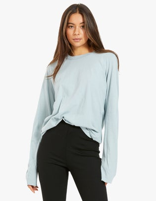 Womens Wide Heritage French Seam L/S T-Shirt