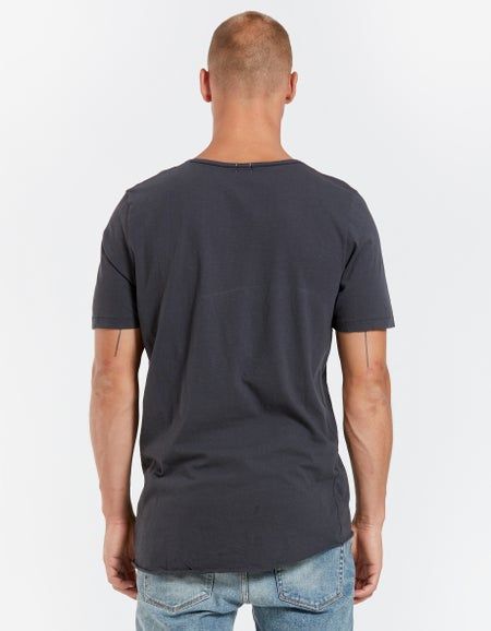Mens Original Neck T Shirt With Tail - White