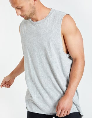 Mens Coverstitch Detail Tank