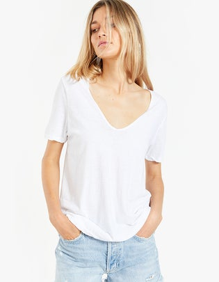 Womens Minimal V Neck T-Shirt