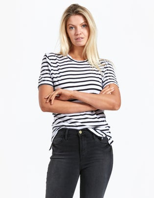 Womens Stripe Wide Heritage S/S T-Shirt