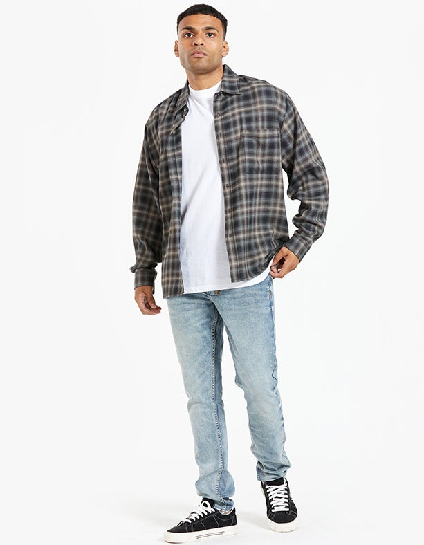 L/S Everyday Wool Shirt - Brown