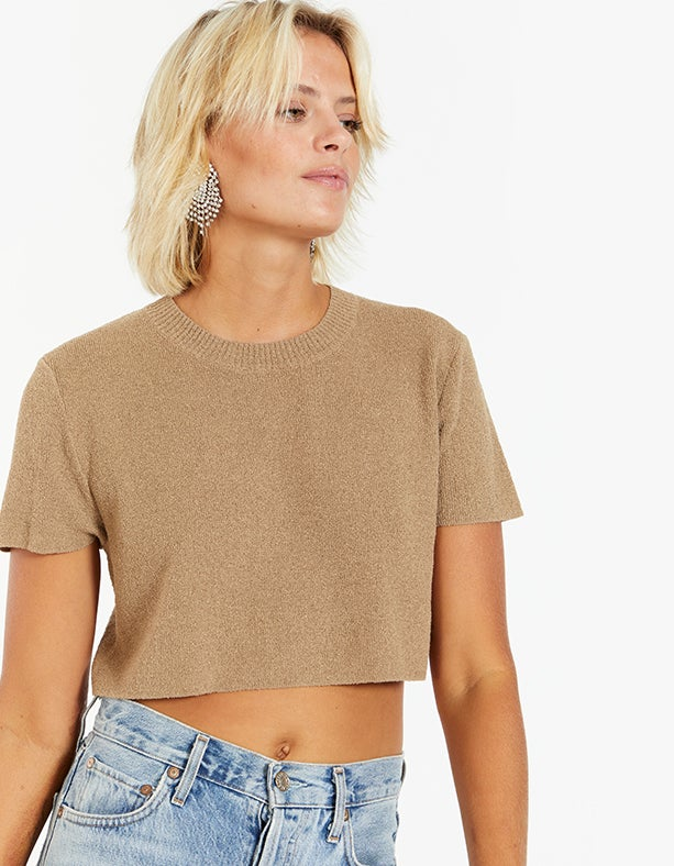Fifi Knit Top - Taupe