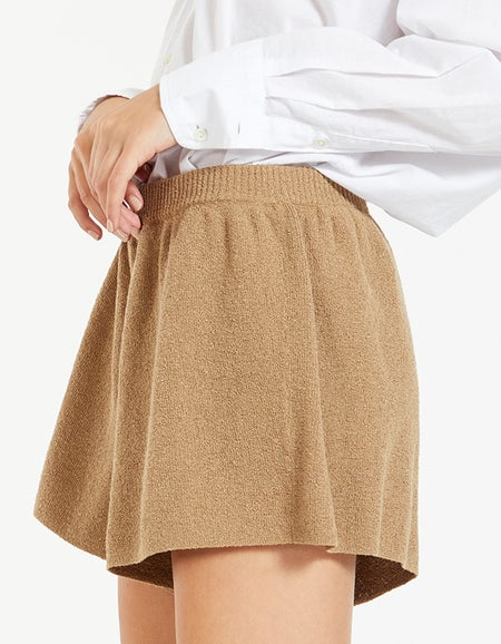 Fifi Knit Shorts - Taupe