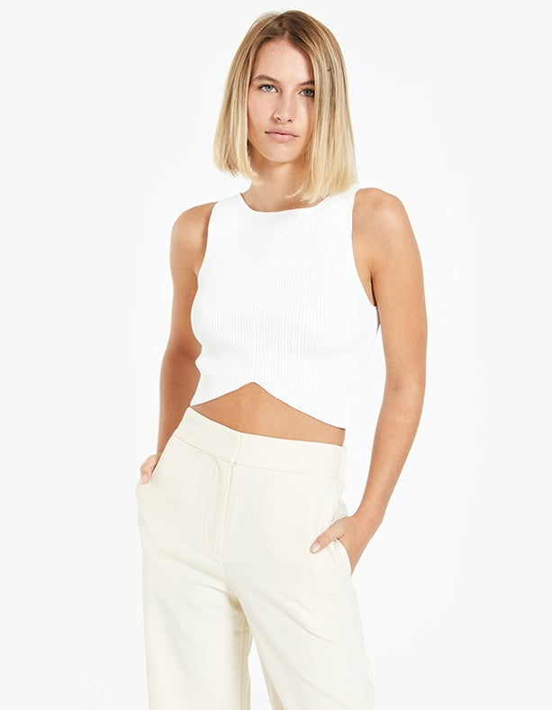 Versailles Knit Top - Ivory