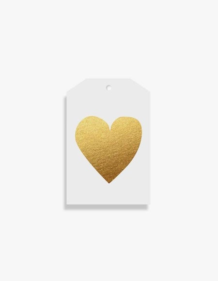 Heart Gold Tag - Gold
