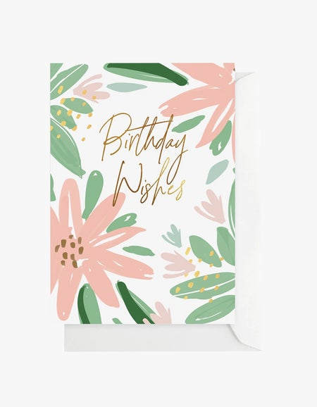 Peach Flower Card - Peach