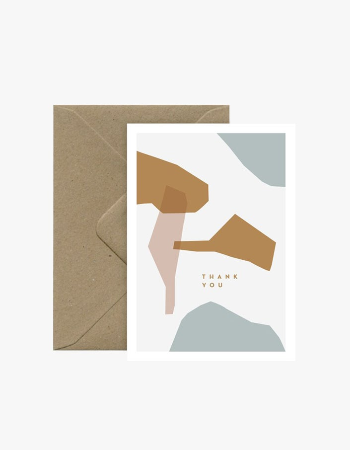 Thank You Abstract Card - White