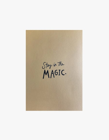 Stay In The Magic Notepad - Gold/Black Foil