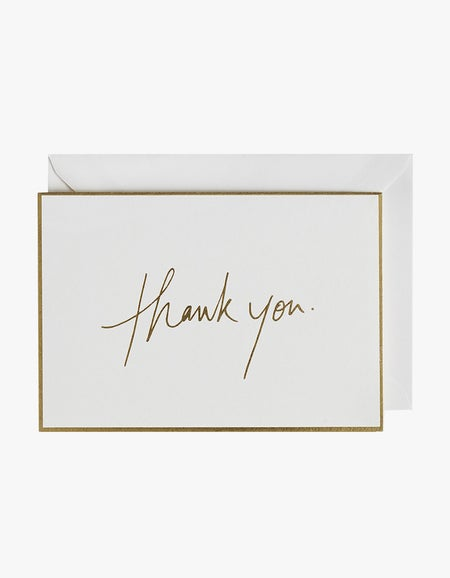 Thank You Luxury Greeting Card - White
