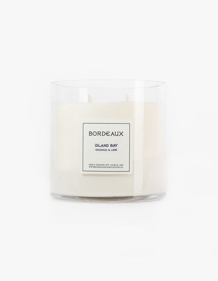 Island Bay Coconut & Lime Candle 1.6kg - White