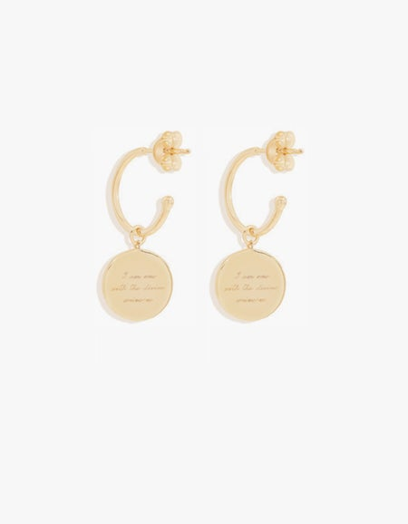 A Thousand Petals Hoops - Gold Plated