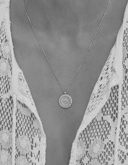 Blessed Eye Necklace - Silver