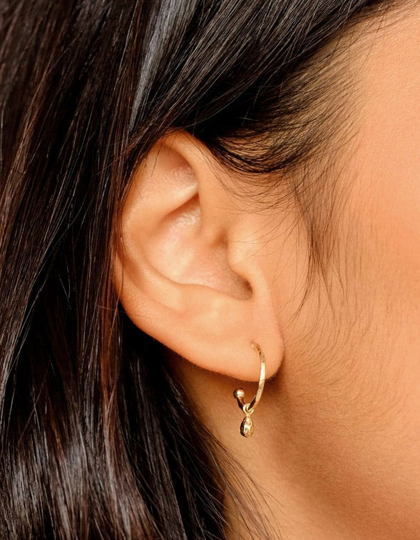 Divine Grace Hoops - Gold Plated