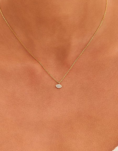 Eye Of Protection Necklace - Gold Plated