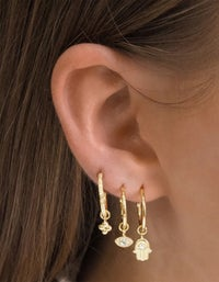 Sacred Guardian Hoops - Gold Plated