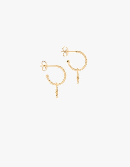Starlight Hoops - Gold Plated