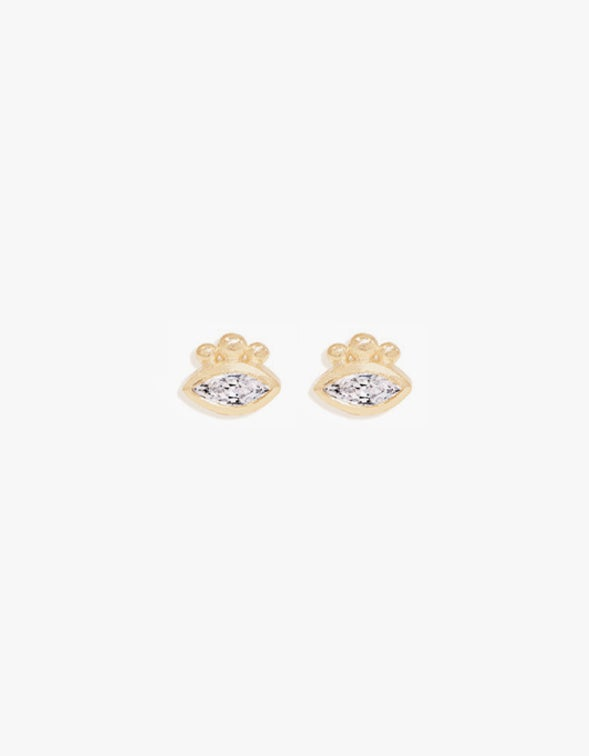 Trust Your Intuition Studs - Gold Plated