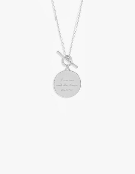 A Thousand Petals Fob Necklace - Sterling Silver