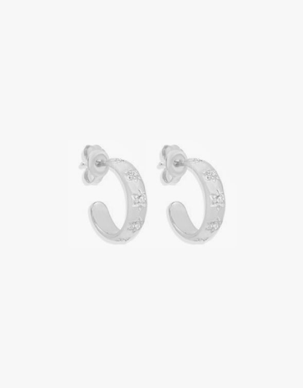 Align Your Soul Hoops - Sterling Silver