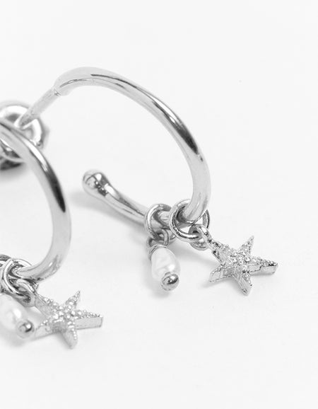 By Charlotte x Superette Be Your Own Light Hoops - Silver