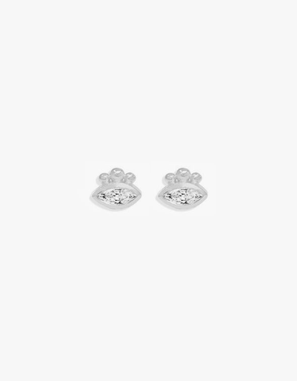 Trust Your Intuition Studs - Sterling Silver