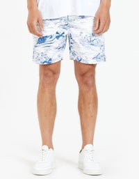 Grover Volley Short - White/Blue