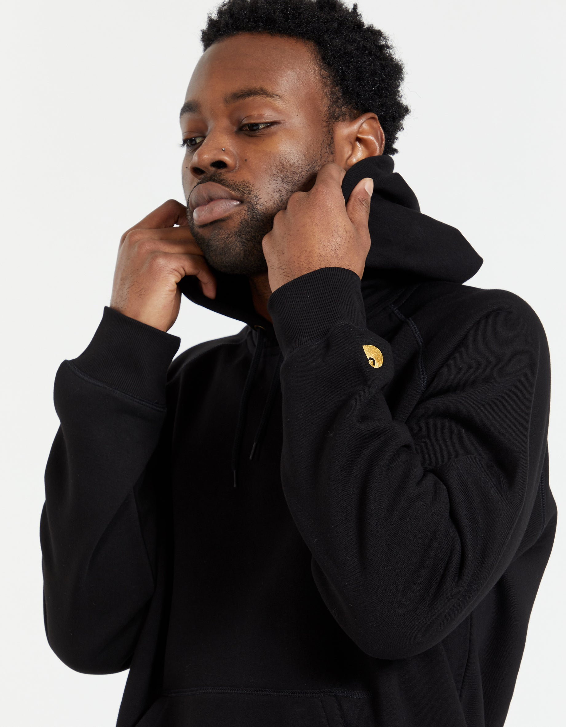 Hooded Chase Sweat - Black/Gold