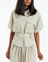 Frost Puff Sleeve Shirt - Oyster