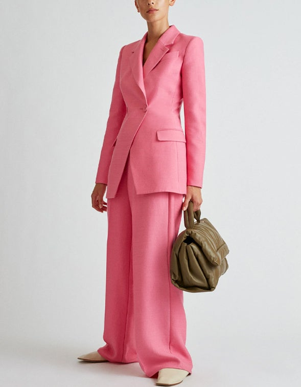 Claudia Fitted Jacket - Candy Pink