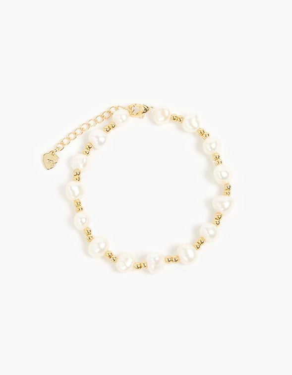 Vacation Pearl Bracelet - 18K Gold Plated
